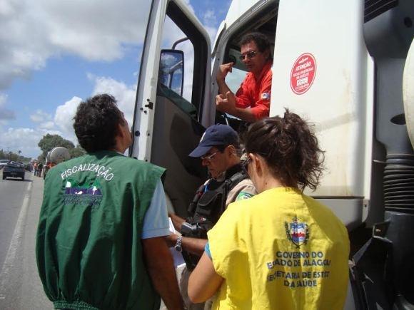 Transporte de produtos perigosos é monitorado em Alagoas