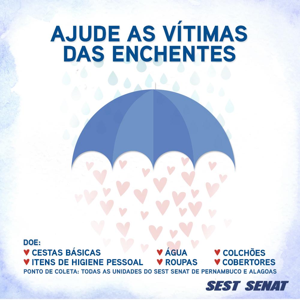 Sest Senat Alagoas e Pernambuco inicia campanha de arrecadação de donativos
