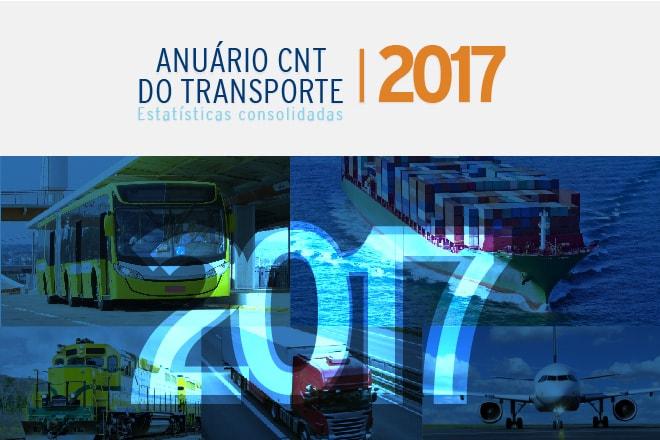 Anuário CNT 2017 reúne série histórica de dados do transporte